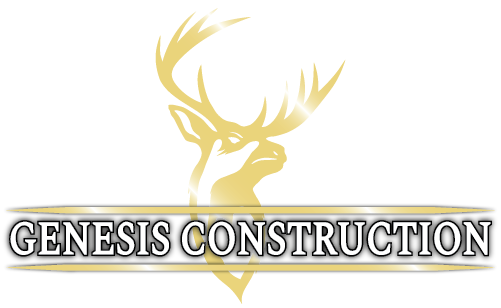 Genesis Construction Custom Homes Buck Logo Gold